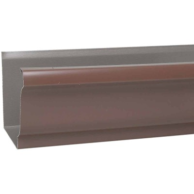 Amerimax 5 In. x 10 Ft. K-Style Brown Galvanized Gutter
