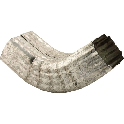 NorWesco 3-1/4 In. Galvanized Galvanized Front Downspout Elbow