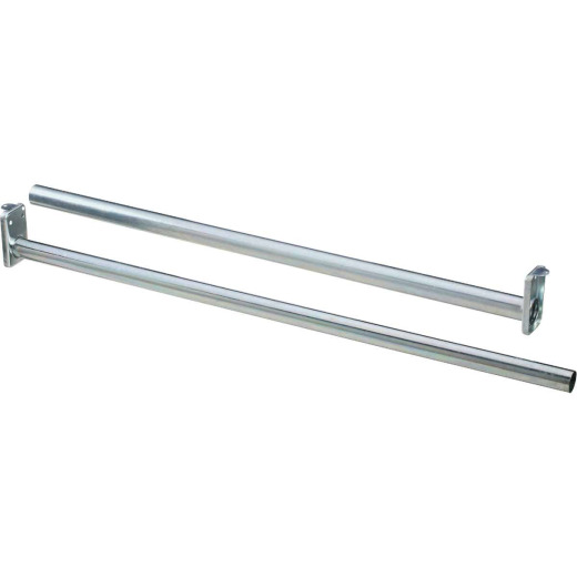 Stanley National 48 In. To 72 In. Adjustable Closet Rod, Bright Steel