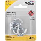 National 1-1/2 In. Zinc Heavy Open S Hook (4 Ct.) Image 2