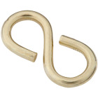 National 1-1/4 In. Brass Light Closed S Hook (2 Ct.) Image 1