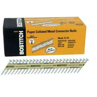 Bostitch 35 Degree Paper Tape Hot-Dipped Galvanized MCN Connector Nail, 1-1/2 In. x .148 In. (1000 Ct.)