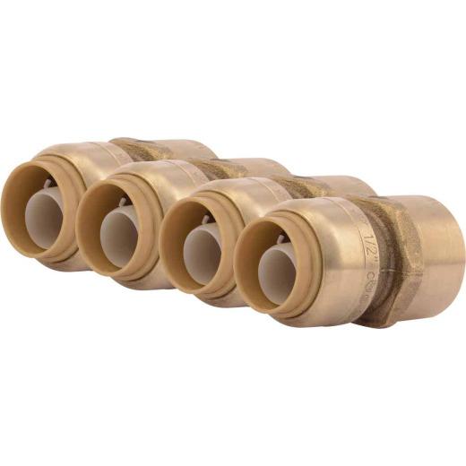 SharkBite 1/2 In. x 1/2 In. FNPT Straight Brass Push-to-Connect Female Adapter (4-Pack)