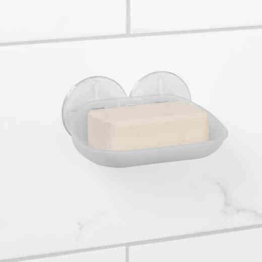 Zenith Zenna Home Frosted Finish Suction Soap Dish