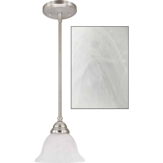 Home Impressions Julianna 1-Bulb Brushed Nickel Incandescent Pendant Light Fixture