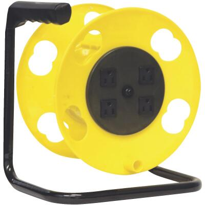 Bayco 100 Ft. of 16/14 Cord Capacity Poly Cord Reel with Circuit Breaker