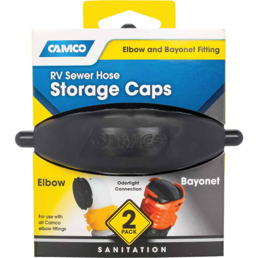 Camco RV Sewer Hose Storage Cap (2-Pack)