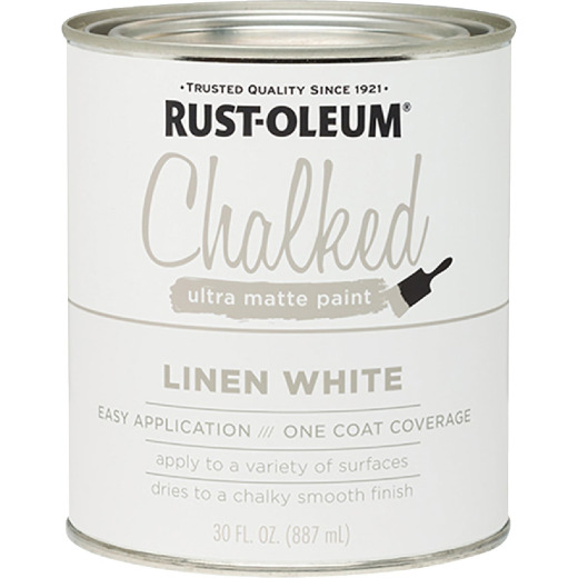 Rust-Oleum Chalked Linen White Ultra Matte 30 Oz. Chalk Paint