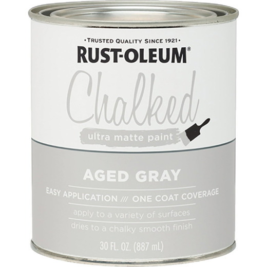 Rust-Oleum Chalked Aged Gray Ultra Matte 30 Oz. Chalk Paint
