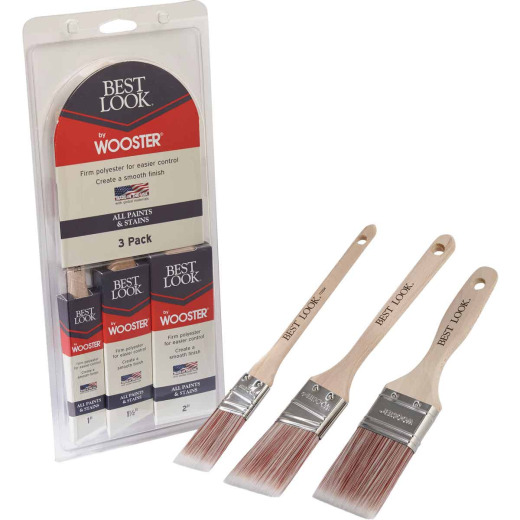 Best Look By Wooster Paint Brush Set (3-Piece)