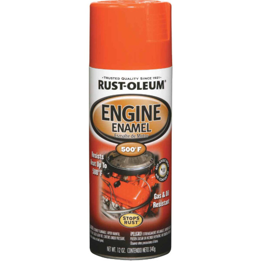 Rust-Oleum Stops Rust 12 Oz. Gloss Chevy Orange Engine Enamel Spray Paint