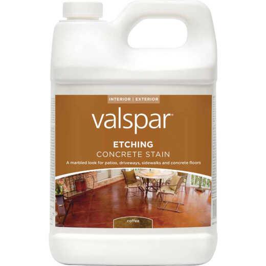 Valspar Interior/Exterior Coffee Concrete Stain, 1 Gal.