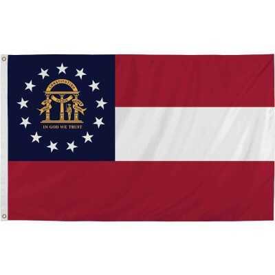 Valley Forge 3 Ft. x 5 Ft. Nylon Georgia State Flag